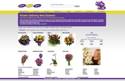 florist NZ online flower delivery website